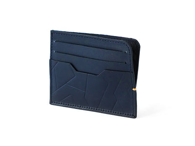 Sterling Card Holder - Deep Sea blue