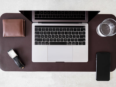 Desk Mat - Dark Tan