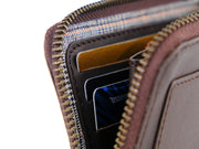 Brooklyn Zipper Wallet - Dark Tan
