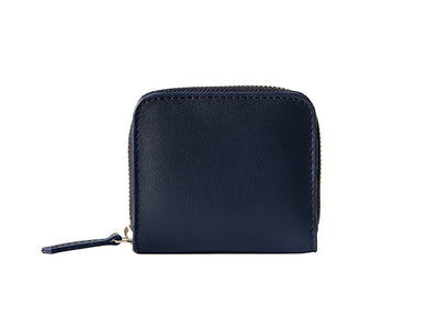Chester Zipper Wallet - Deep Sea Blue & Tan