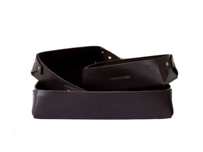 Desk Organiser Tray - Dark Tan