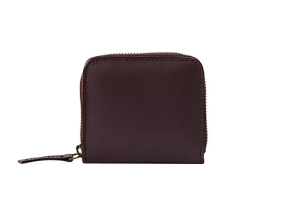 Chester Zipper Wallet - Burgundy & Black