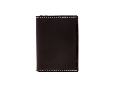Urbane- Vertical Bifold Pull Tab Wallet - Dark Tan (Custom)