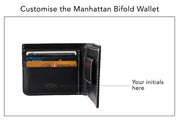 Manhattan Bifold Wallet - Black (Custom)