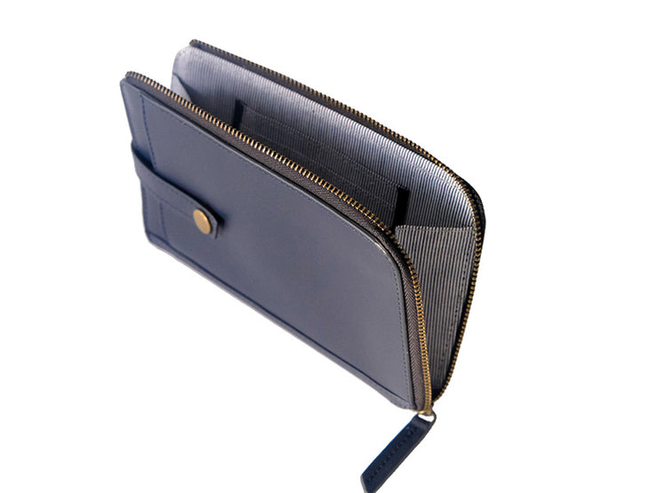 Auray Mobile Zipper Crossbody Sling (Deep Sea Blue)