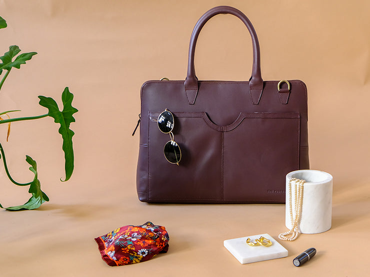 Louise Laptop Bag (Burgundy)