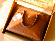 Louise Laptop Bag (Classic Tan)