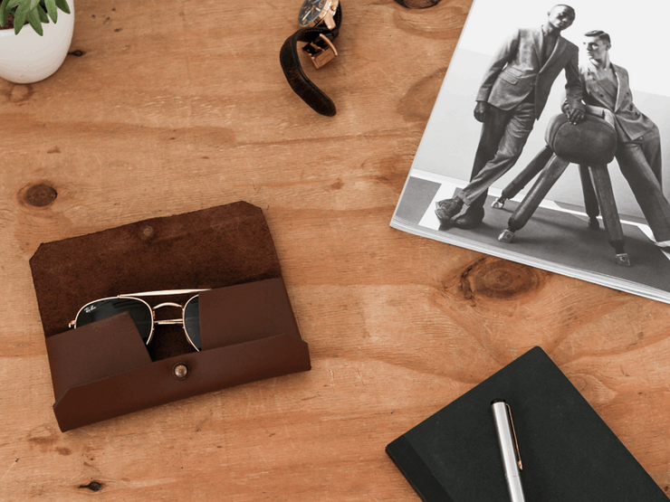 Sunglass case + Sterling Wallet + Luggage Tag