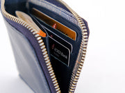 Brooklyn Zipper Wallet - Deep Sea Blue