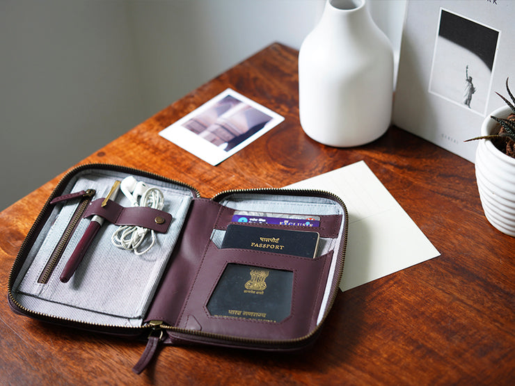 AIO Mobile & Passport Unit - Burgundy (Custom)