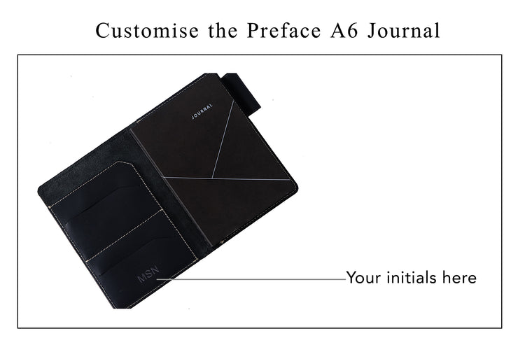 Preface - A6 Journal / Deep Sea Blue (Custom)
