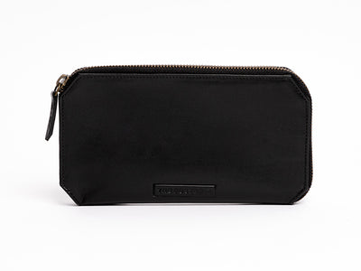 Utility Leather Pouch - Black