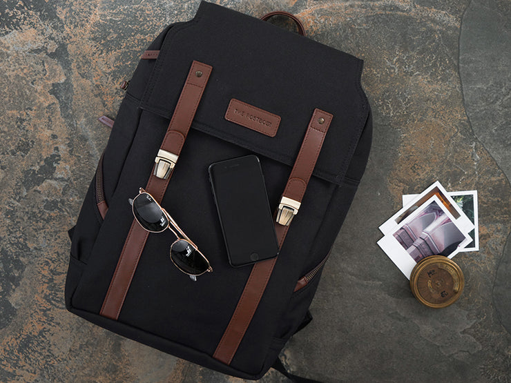 The Transit 2.0 Backpack - Charcoal with Tan