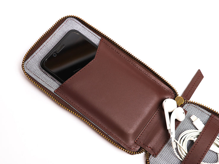 AIO Mobile wallet - Burgundy