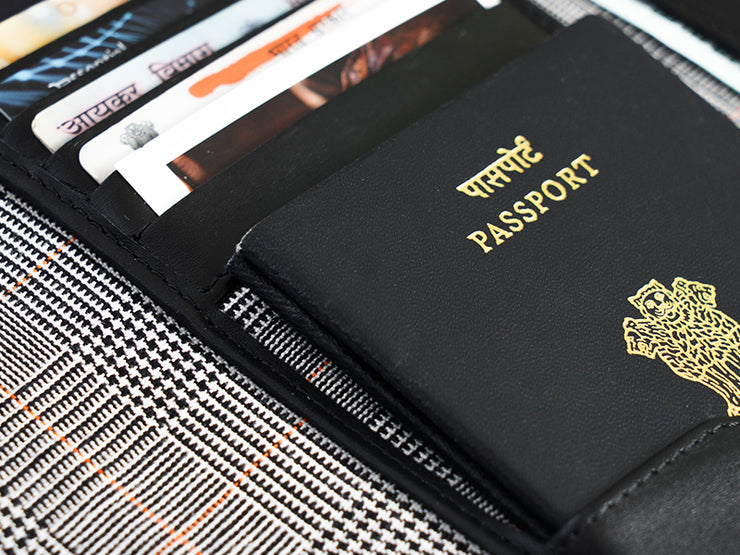 Wanderlust Passport Wallet  Black - Custom