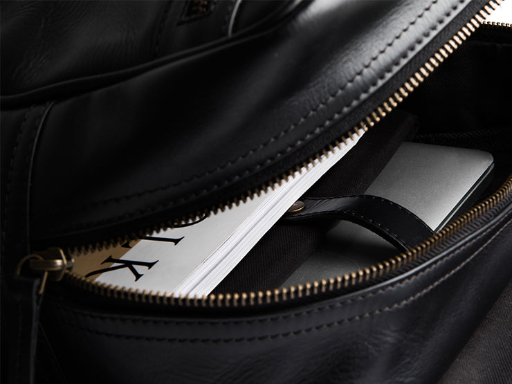 The Transit 2.0 - Black Nappa Leather