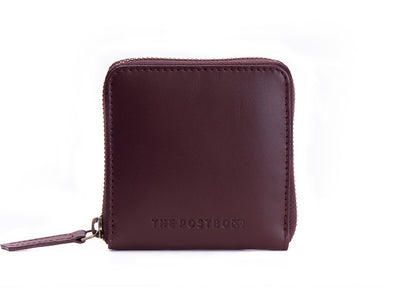 Piquant - Classic Zipper Wallet (Burgundy)