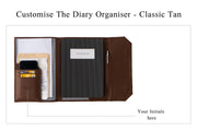 Diary Organiser - Tan / Stripes (Custom)