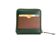 Piquant - Classic Zipper Wallet (Emerald Green)