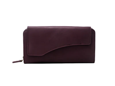 Florentine Long Wallet (Burgundy)