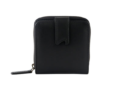Sienna Bifold Zipper Wallet (Black)