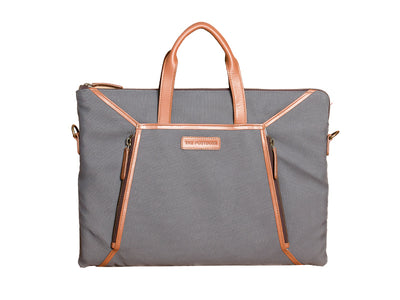Bureau - Slim Laptop Bag (Pearl Grey)