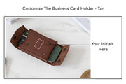 Business Card Holder - Tan (Custom)