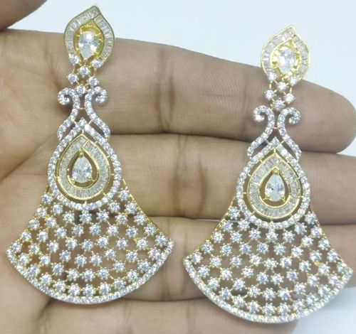 GOLD LUXURY STONE EARRING 001