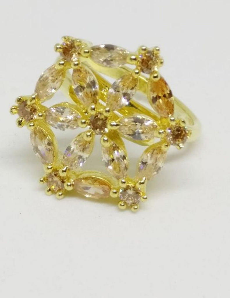 GOLD LUXURY STONE RING 002
