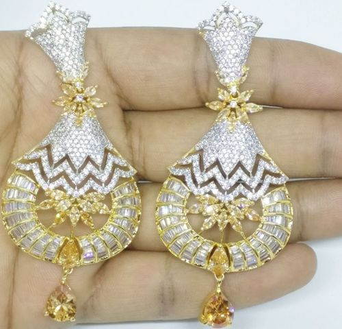GOLD LUXURY STONE EARRING 003