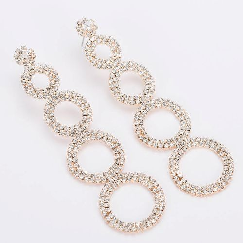 004 GOLD CRYSTAL DROP EARRING