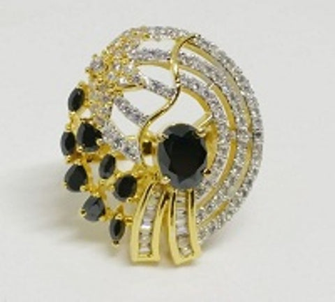 006 BLACK LUXURY STONE RING