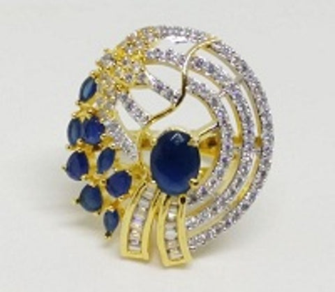 005 BLUE LUXURY STONE RING