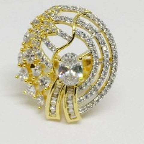 005 WHITE LUXURY STONE RING