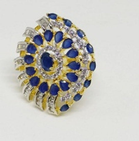 006 BLUE LUXURY STONE RING