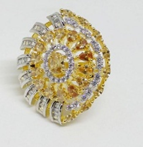 007 GOLD LUXURY STONE RING