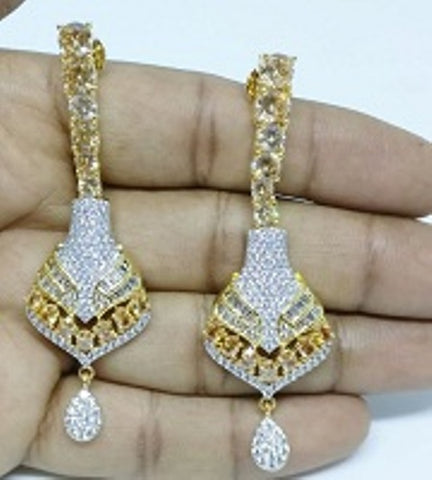 008 GOLD LUXURY STONE EARRING