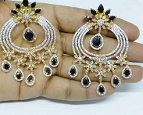 009 BLACK LUXURY STONE EARRING