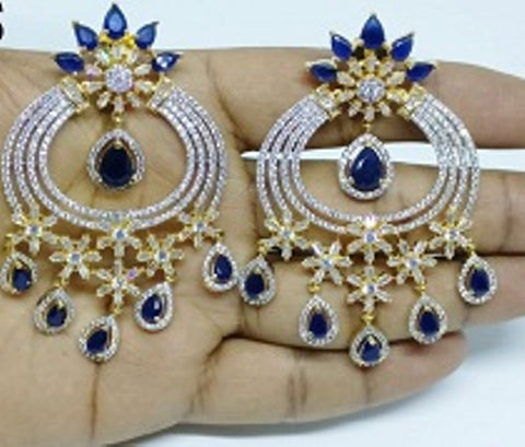 009 BLUE LUXURY STONE EARRING