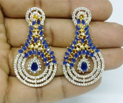 010 BLUE LUXURY STONE EARRING