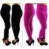 Pack of 2 Ladies Thick Plus Size High-Waist Leggings