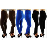 Pack of 3 Ladies Thick Plus Size High-Waist Leggings