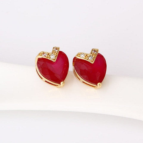 FASHION EARRING 24908-BURGUNDY