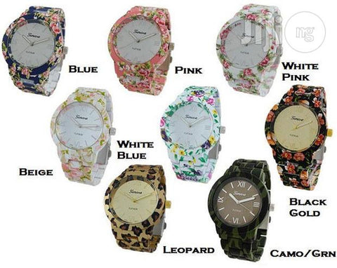 Geneva 9700 Flower Watches