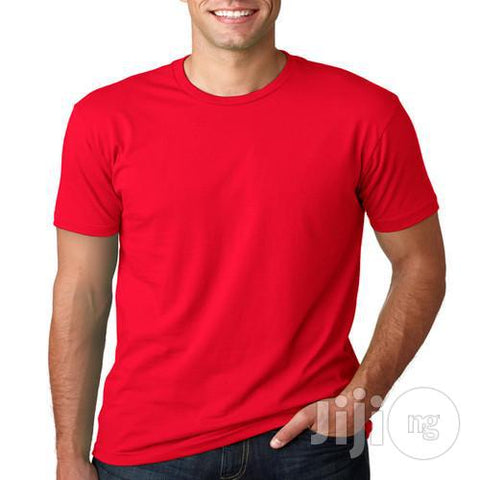 BYC Slim -Fit Fashion Round-neck T- Shirt - Red