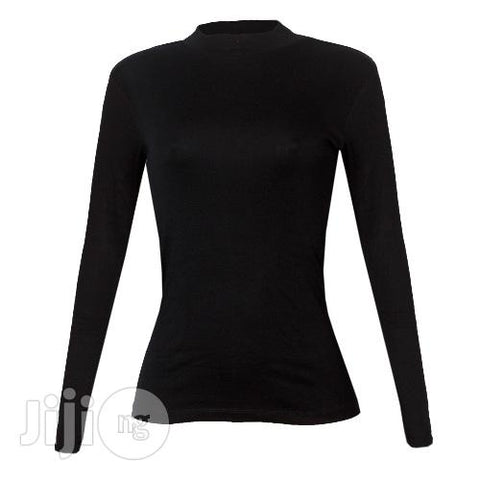 Police G.168 Bodygirl Black Medium Turtle Neck Long Sleeve T- Shirt
