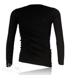 Police X.015 Xtrasize Plain Black Large Long Sleeve T-Shirt