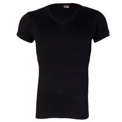 JUST IT SHORTSLEEVE BLACK BODYSIZE T-SHIRT Size M -L O-NECK