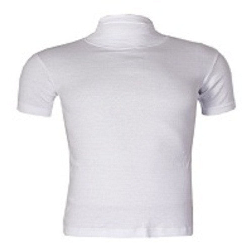 Uzem white Turtle Neck Bodysize shortsleeve T-Shirt Size M-Large