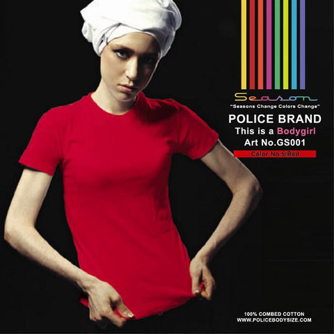 POLICE GS.001 BODYGIRL PLAIN RED MEDIUM COLOR T-SHIRT